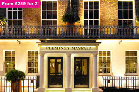 Flemings Mayfair - A Night at the Luxurious Flemings Mayfair Including a Shopping Trip to Harrods - Save 0%