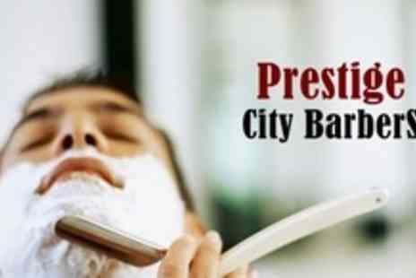 Prestige City Barber - Haircut and Turkish Hot Towel Shave - Save 56%
