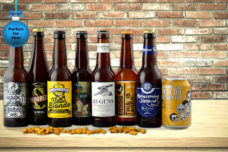Flavourly - Eight bottles of craft beer, vouchers and snack - Save 0%