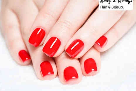 Betty and Kennys - Gel Polish Manicure or Pedicure, or Both, or Full Body Spray Tan - Save 60%