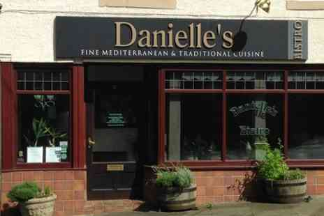 Danielles Bistro - Two Course Mediterranean Meal For Two - Save 49%