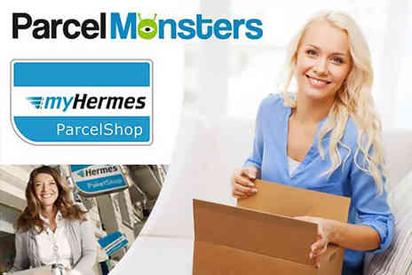 Parcel Monsters - MyHermes parcel delivery voucher for up to 5kg - Save 62%