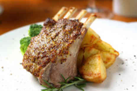The Blue Steak Restaurant - Amazon Exclusive Full Rack of Lamb, Sides and Wine for Two  - Save 46%