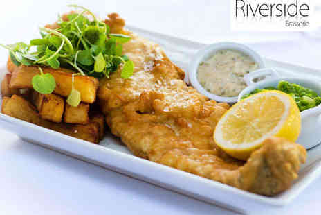 Riverside Brasserie - £50 to Spend Between Two - Save 62%