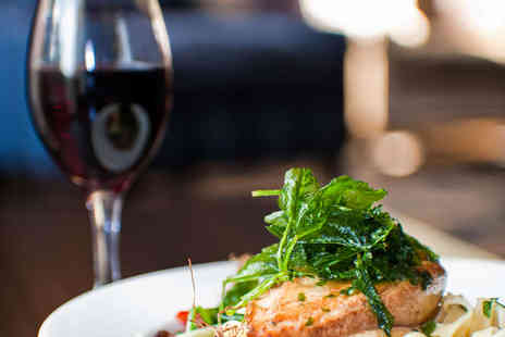 The Clock Cafe - Pick-a Fish Meal with Two Sides and Glass of Wine Each for Two - Save 46%