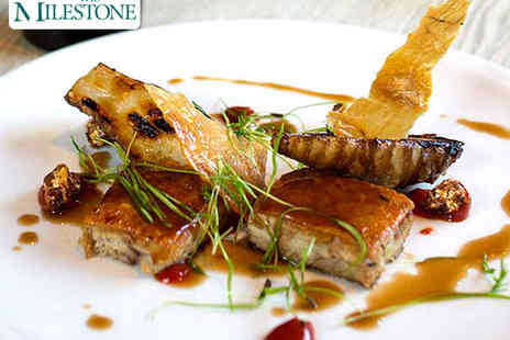 The Milestone - Main Course with a Glass of Wine Each for Two - Save 57%