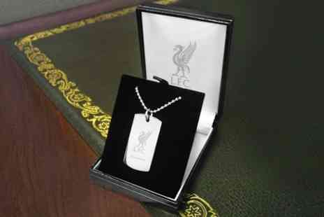 Personalised Football Gifts - Personalised Football Dog Tag Pendant - Save 52%