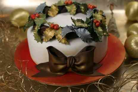 3D Cakes - 12 Christmas Pudding Cake Pops or a Large Christmas Cake  - Save 55%
