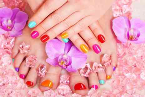 Charles Lewis Hair & Beauty - Manicure or Pedicure or Both  - Save 50%