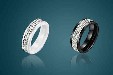 Nirbana Soul - Ceramic Crystal Ring - Save 60%