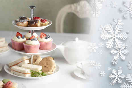 Carmina & Lancelot - Christmas afternoon tea for two including a glass of champagne or mulled wine each - Save 60%