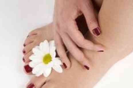 Prim & Propa - Manicure and pedicure with gel overlay nails and Hollywood toes - Save 73%