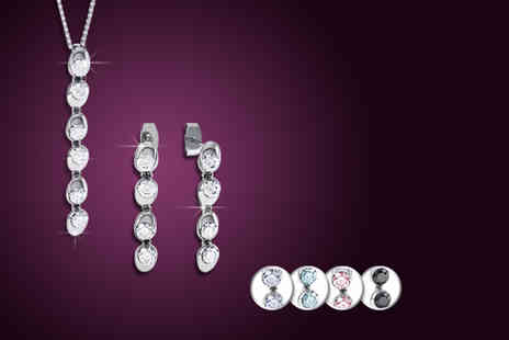Rocks of London - Solitaire Duo Drop Set with Swarovski Elements - Save 90%