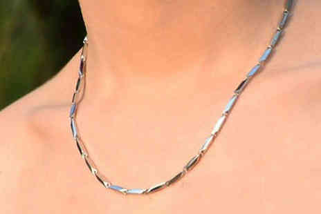 Essential Silver - Unisex Trusted Titanium Necklace - Save 0%