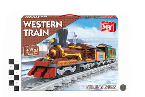 Mighty Oak Trading - Western Style Train and Track Brick Set - Save 0%