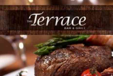 The Terrace Bar & Grill - Two Courses of Modern Hot Rock British Cuisine For Two - Save 60%