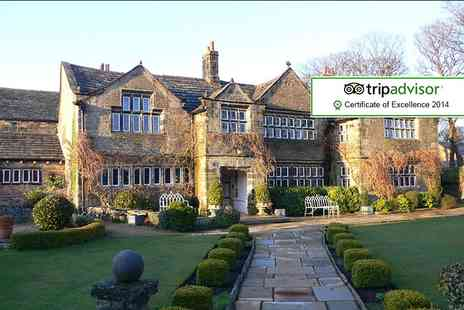 Holdsworth House Hotel - One night break for Two  including breakfast, glass of wine each and a £50 dinner or bar menu credit - Save 42%