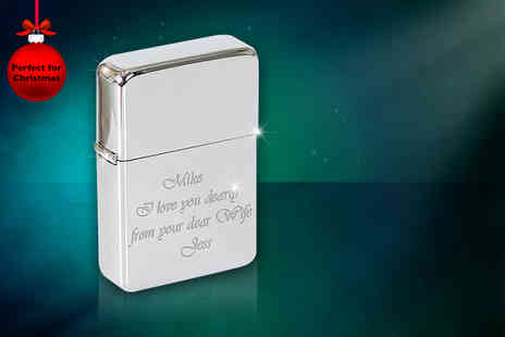 Colour My Wall - Personalised flip top lighter - Save 72%