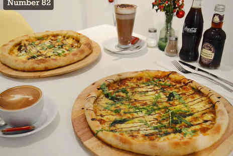 Number 82 - Oven Baked Pizza for Two with Hot or Cold Drink Each and BYOB - Save 53%
