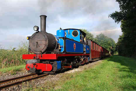 The Kirklees Light Railway - Steam Train Ride for One Adult and One Child  - Save 54%