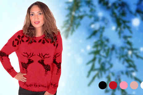 Cerichic - Super snug Reindeer Jumper  - Save 87%