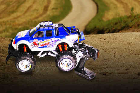 Toys Warehouse - Mighty remote control 4x4 Monster Truck and batteries - Save 75%