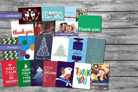 Good Print -  20 x personalised greeting cards - Save 52%