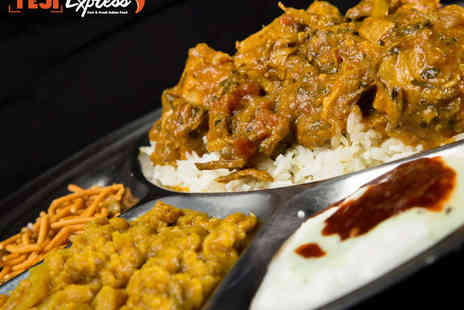 Teji Express - Thali Meal for Two  with a Soft Drink Each - Save 49%