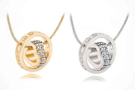 Your Ideal Gift Store - Encircled Heart Pendant Made with Swarovski Crystals  - Save 81%
