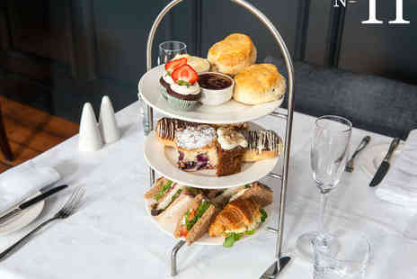 No 11 Brunswick  - Afternoon Tea for Two with a Glass of Sparkling Wine - Save 58%