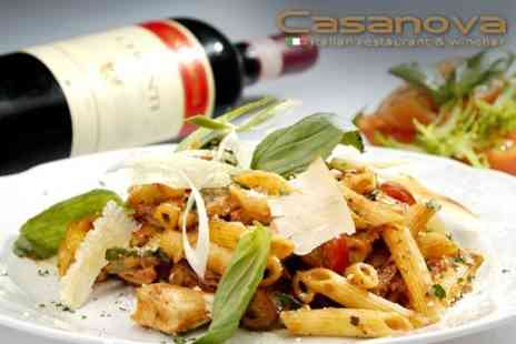 Casanova Restaurant & Wine Bar - Italian Fare for Two - Save 60%
