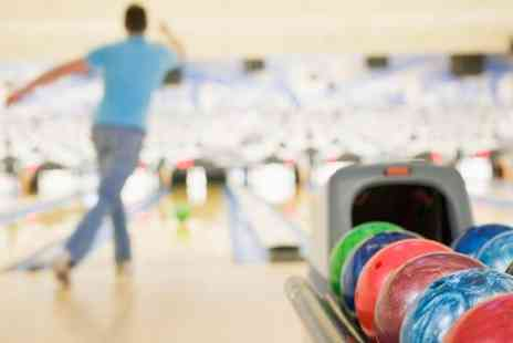 Rollerbowl - Two Games of Bowling With Hot Dog, Nachos or Burger for Four - Save 72%
