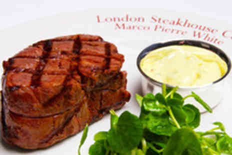 Marco Pierre White Steakhouse - Marco Pierre White Three Course Dining with Cocktails for Two - Save 46%