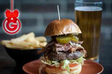 The Four Horsemen Pub - Burger With Sides and Craft Beer For Two  - Save 0%