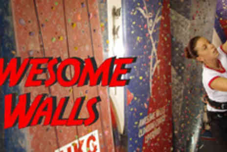 Awesome Walls - One hour climbing session for two - Save 72%