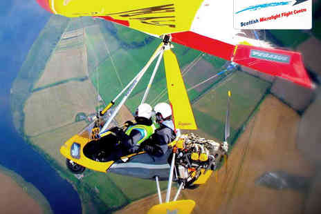 The Scottish Microlight Flight Centre - 30 Minute or Hour Long  Microlight Adventure Flight - Save 0%