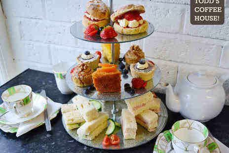Todds Coffee House - Afternoon Tea for Two  - Save 50%
