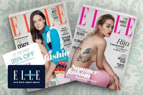 Hearst Magazines - 12 Month ELLE Magazine Subscription - Save 64%