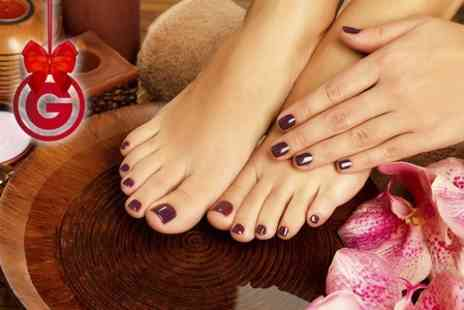 Nails By Jackie - Bio Sculpture Shellac Manicure and Pedicure  - Save 63%
