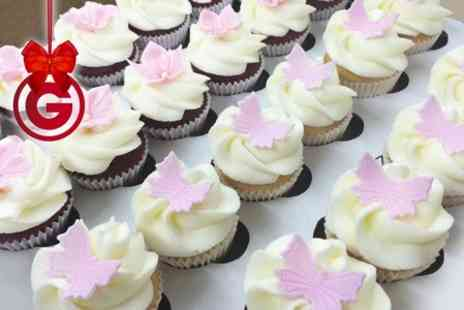 Cute as a Cupcake - 24 or 48 Mini Vanilla Cupcakes - Save 50%