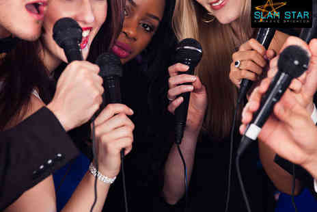 Slam Star Karaoke - Two Hours of Karaoke for Six People with One Cocktail Pitcher  - Save 74%