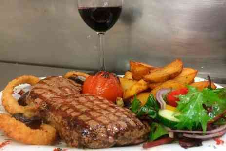 The Moorings Pub & Kitchen - Porterhouse Steak Meal With Wine For Two  - Save 61%