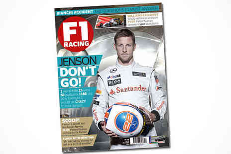F1 Racing Magazine - 12 Month Subscription  F1 Racing Magazine Delivery Included - Save 68%