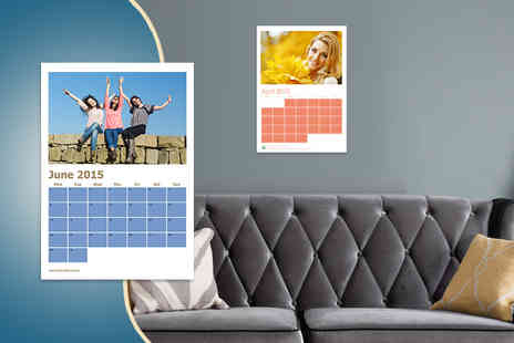 Good Print - Personalised photo calendar measuring 420 x 297mm - Save 0%