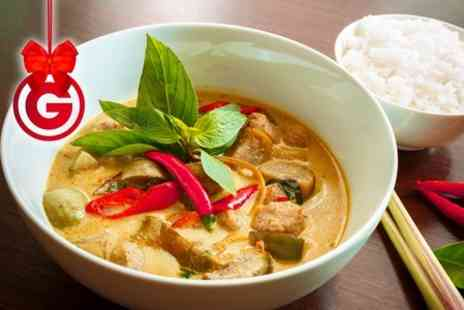 The Hamilton Arms Nava Thai - Two Course Meal For Two  - Save 63%