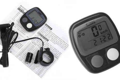 E accessories - Digital Bicycle LCD Speedo - Save 60%