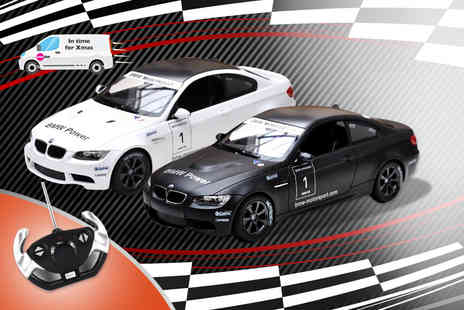 Colour My Wall - Remote control BMW M3 in black or white - Save 60%