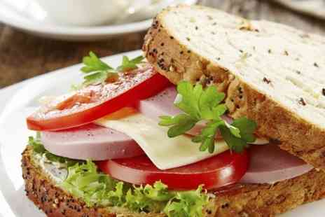 POPPIES - Sandwiches and Hot Drinks For Two - Save 47%