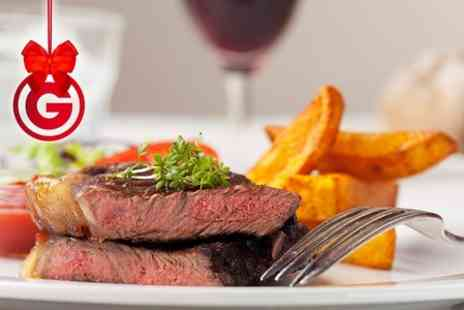Steam Wine Bar - Steak Meal With Wine For Two - Save 52%