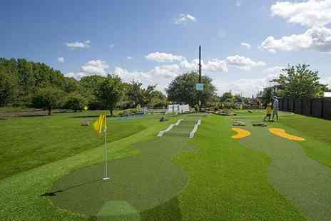 Liverpool Golf Centre - Mini golf with a hot drink and 35 balls on the driving range, for Two - Save 64%